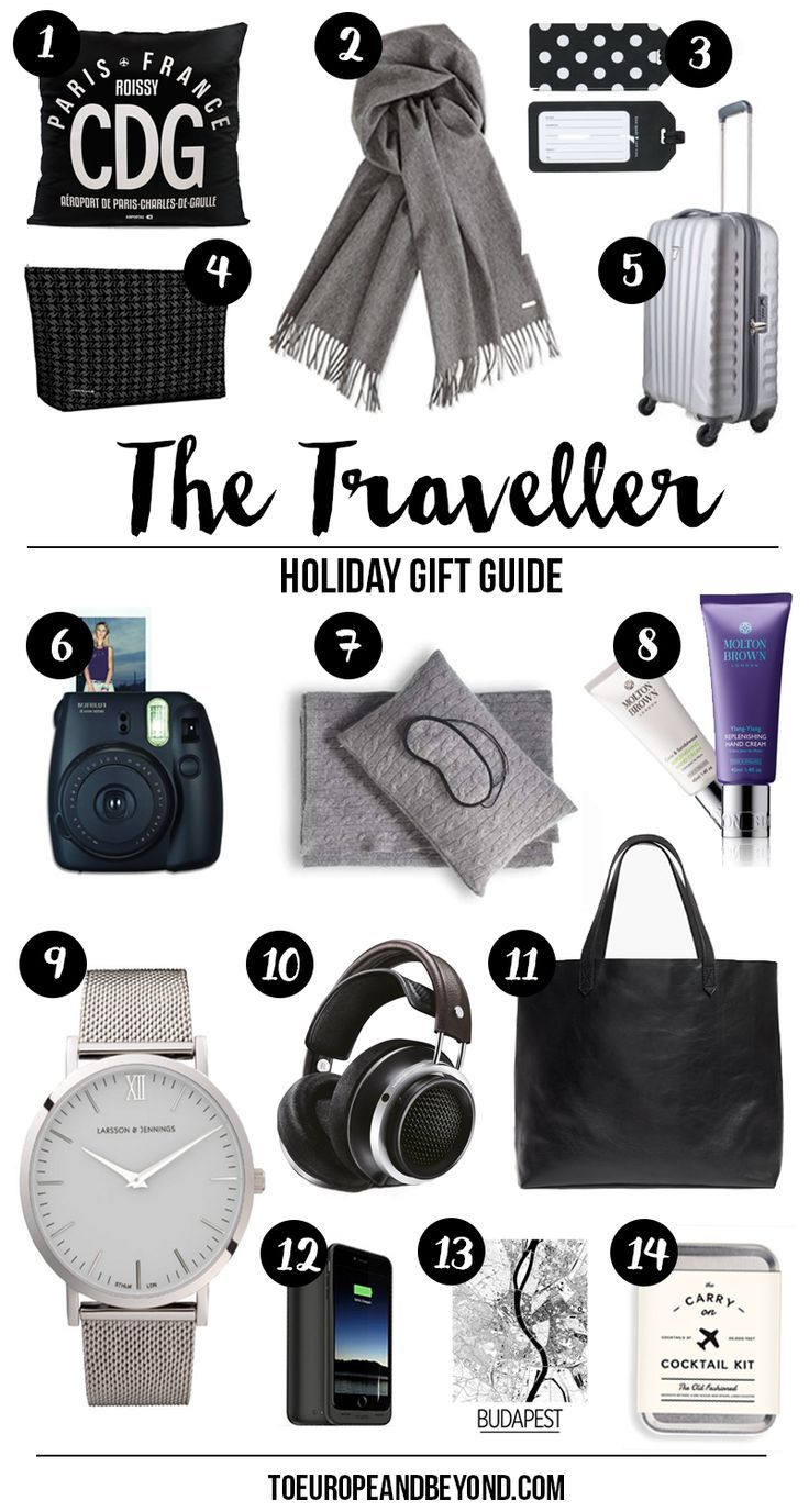 14 Christmas travel presents for the sophisticated traveller in your life. http://toeuropeandbeyond.com/travel-holiday-gifts/