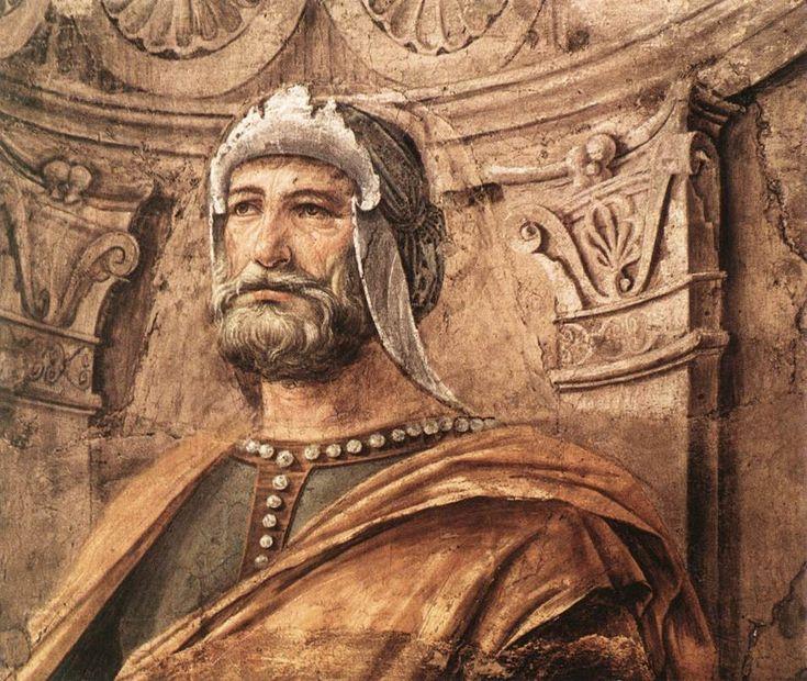Донато Браманте. Man-at-Arms c. 1481 Fresco transferred to canvas, 90 x 113 cm Pinacoteca di Brera, Milan.