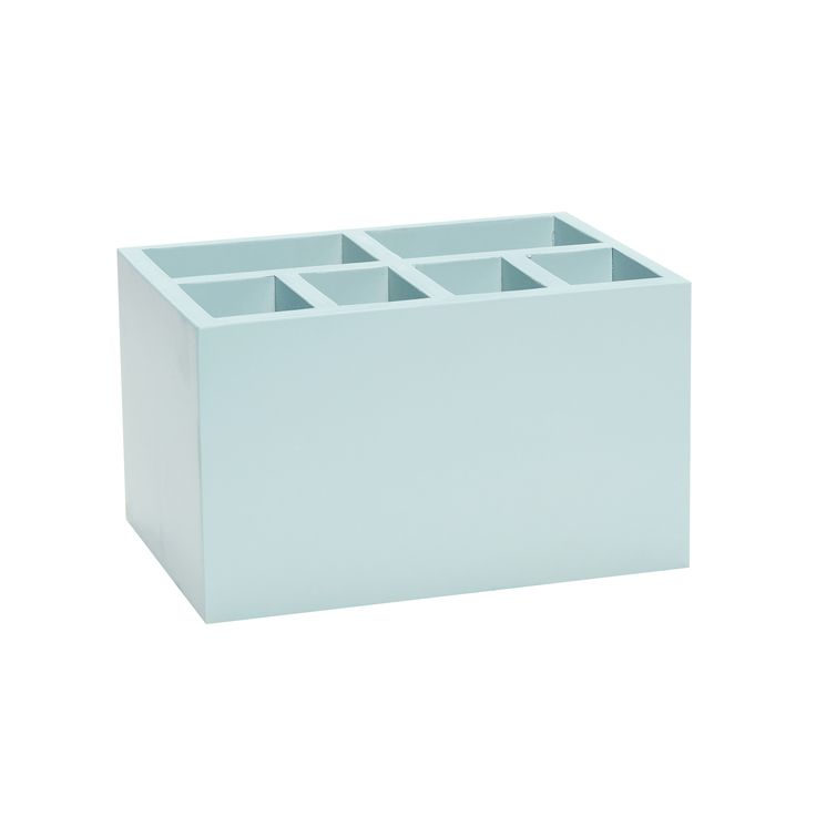 Blue wood box with 8 compartments. Product number: 885029 - Designed by Hübsch