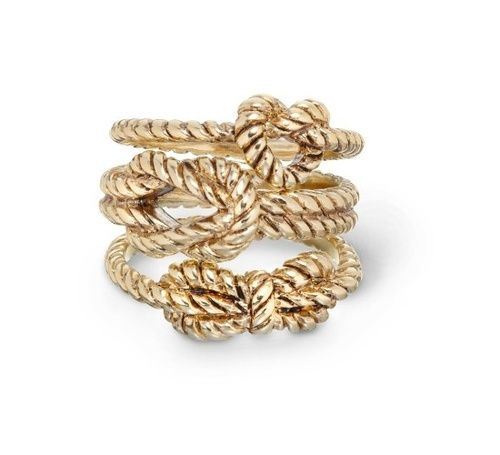 Gold knot rings: Rings Sets, Knot Rings, Ropes Rings, Bridesmaid Gifts, Nautical Knot, Cwonder, Jewelry, C Wonder, Nautical Rings