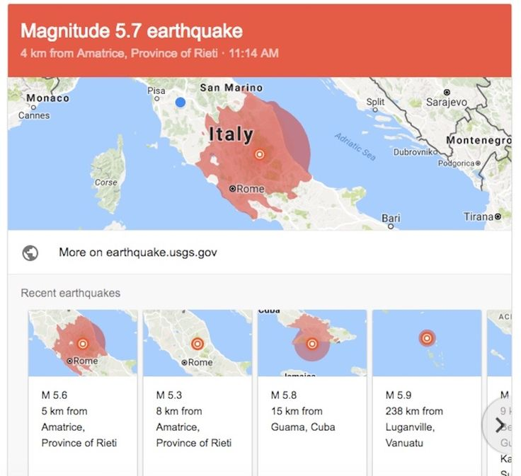 Three strong earthquakes rocked central Italy