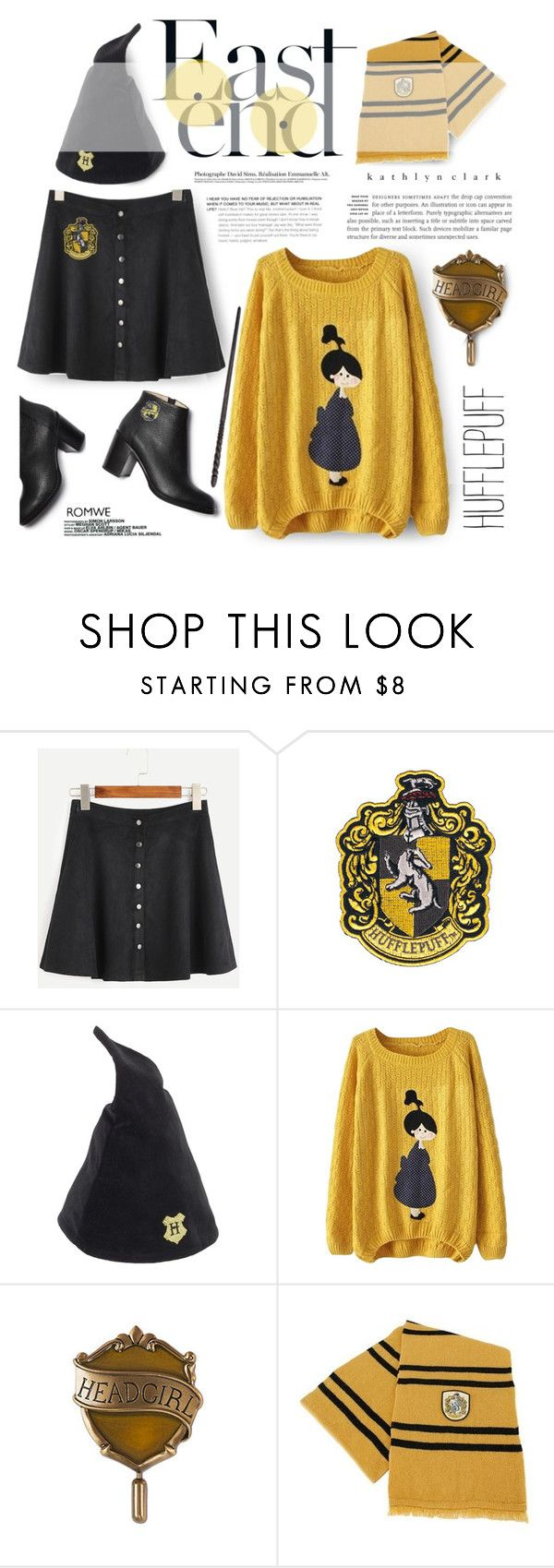 """283 : Hufflepuff Muggleborn."" by kathlynclark ❤ liked on Polyvore featuring Paul Andrew and Elope"