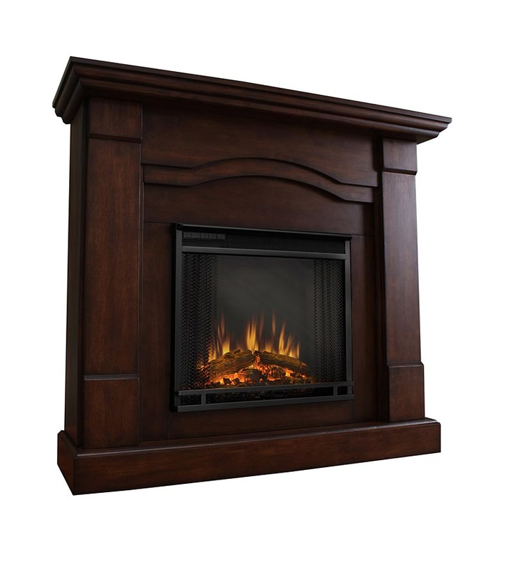Frisco Vent Free Electric Fireplace With Scalloped Mantel