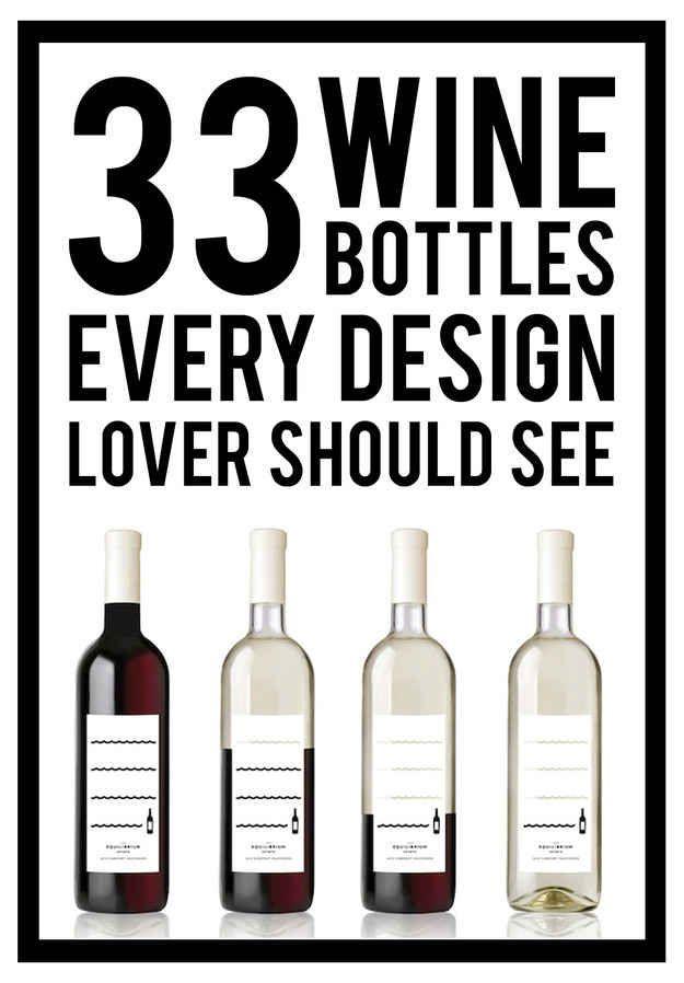 Wine Labels Design - 33 Brilliantly Designed Wine Bottles #link #BandW #cCreams