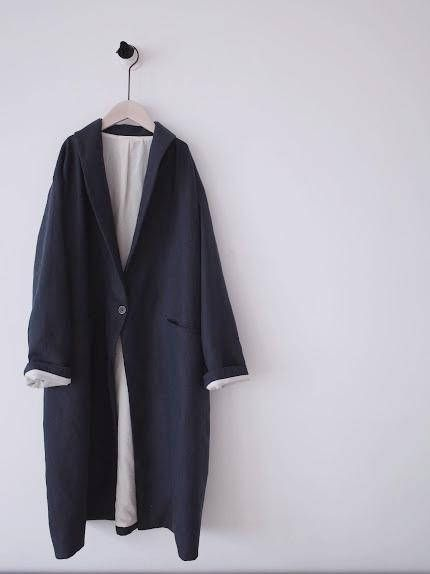 Oversized shawl collar long coat