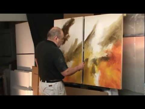 ▶ abstract painting demo. 'Sea Storm' creating movement and depth with color and blending - YouTube