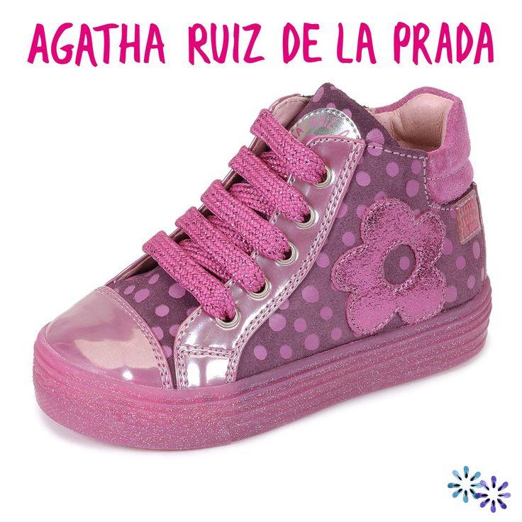 AGATHA RUIZ DE LA PRADA - Shoes Flower Fucsia También en coralkids - Tallas 24 a 32