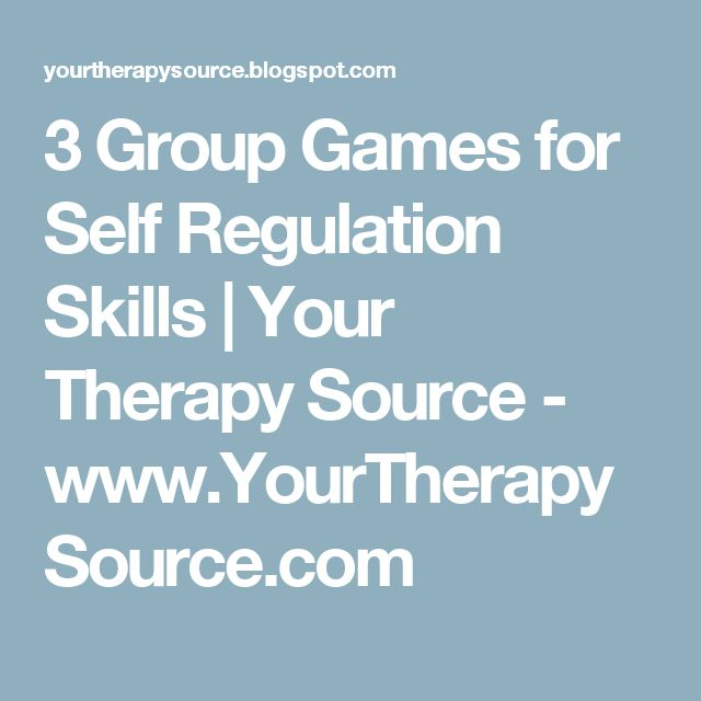 3 Group Games for Self Regulation Skills | Your Therapy Source - www.YourTherapySource.com
