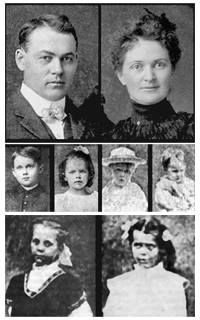The Villisca axe murders occurred between the evening of June 9, 1912 and early morning of June 10, 1912, in the town of Villisca in sw Iowa. The six members of the Moore family and two house guests were found bludgeoned in the Moore residence. All eight victims, incl 6 children, had severe head wounds from an axe. A lengthy investigation yielded several suspects, one of whom was tried twice. The first trial ended in a hung jury and the second in an acquittal. The crime remains unsolved.