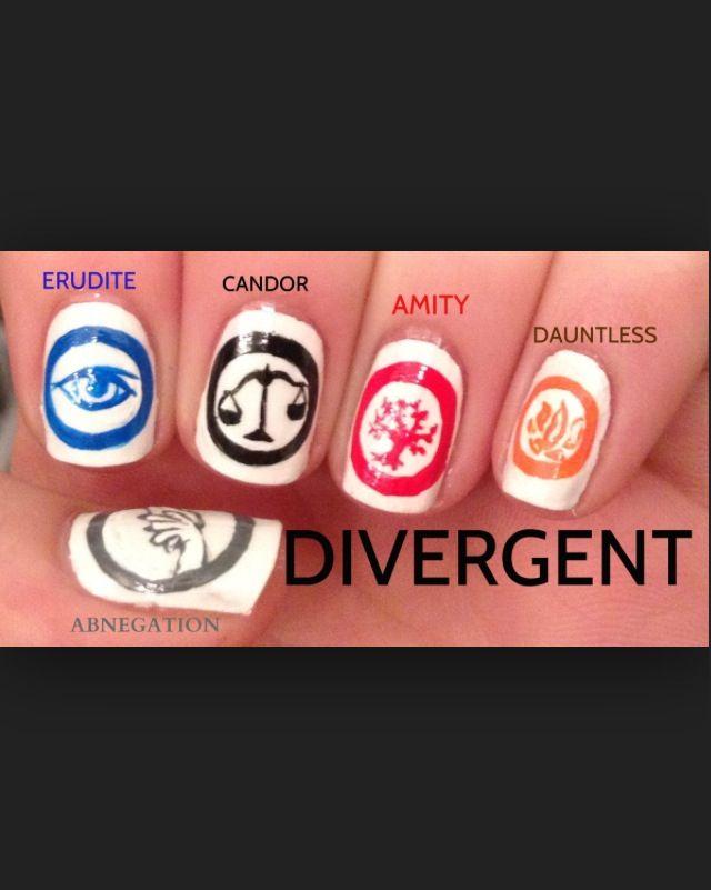 Divergent faction symbols nail art | Nails | Pinterest ...