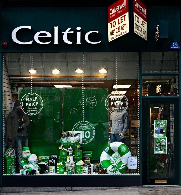 Celtic Fc Shop, 34 Frederick Street, Edinburgh, Scotland.