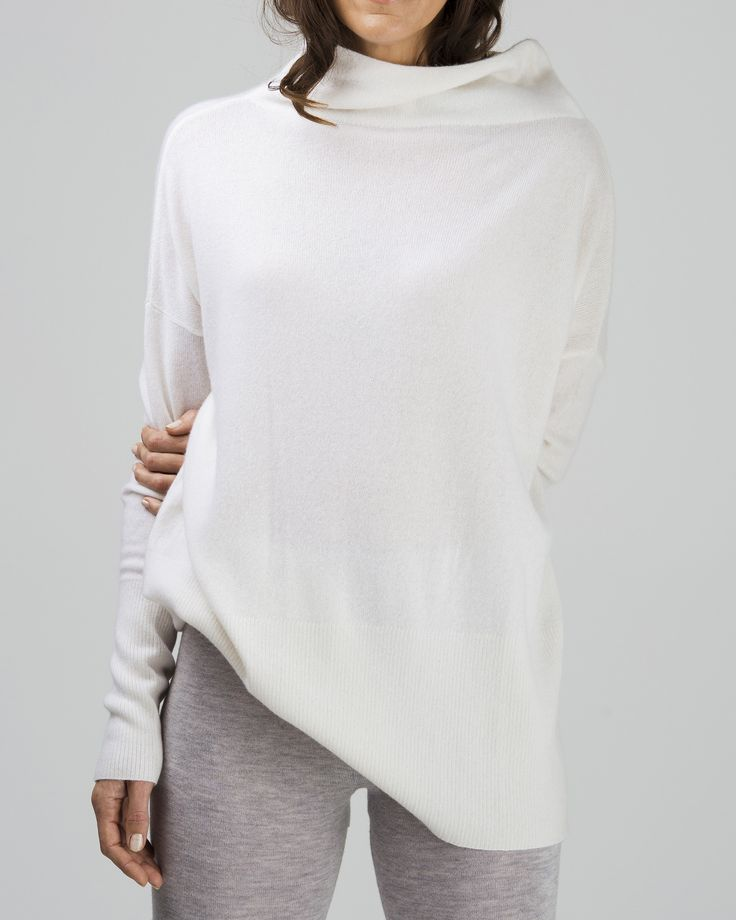 cashmere oversized turtleneck jumper