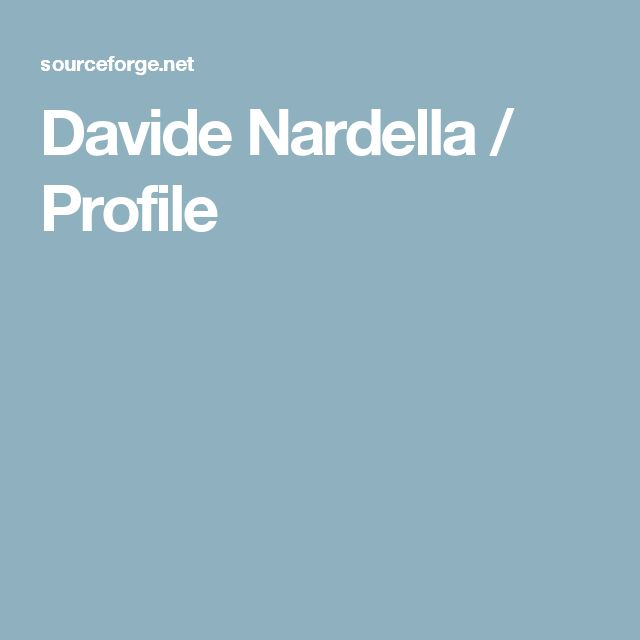 Davide Nardella / Profile
