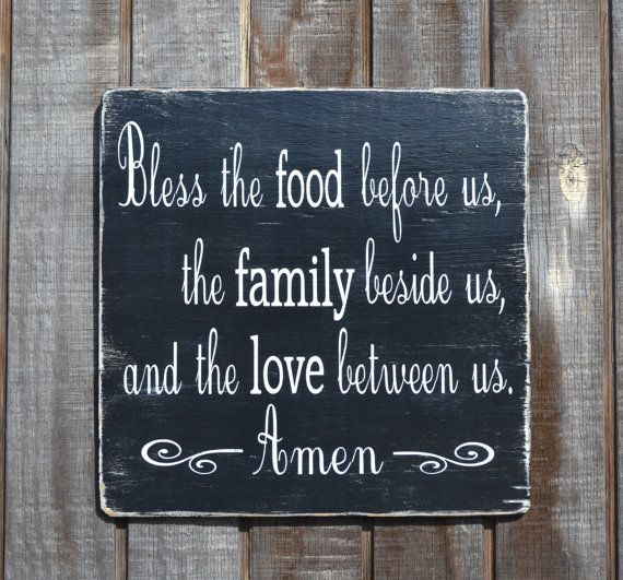 Kitchen Blessing Wall Decor: Bless The Food Before Us