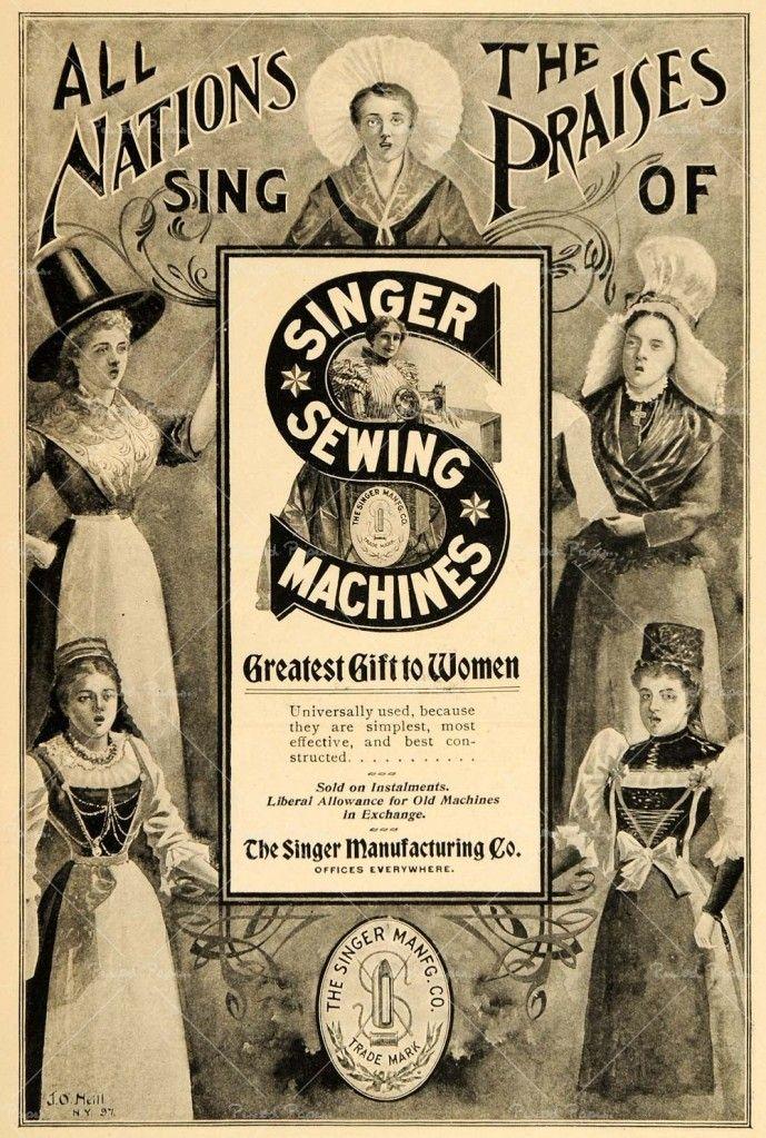 Singer sewing vintage ads you head