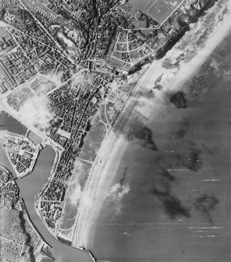 Aerial-View-of-Main-Beach-at-Dieppe-Enemy-Gun-Positionss