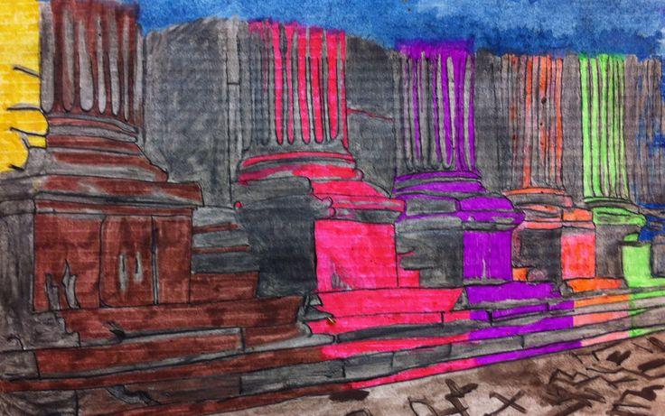 Esercizio sui colonnati by paoloaugusto.deviantart.com on @deviantART