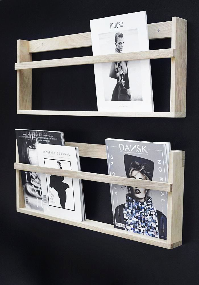 Via Stylizimo | Magazine Rack | Black and Wood