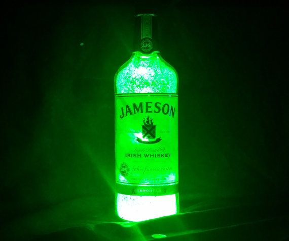 Inspirational Jameson Bottle Light by BottlesForFunShop on Etsy FlaschenlampenFlasche BeleuchtungJameson Bottle