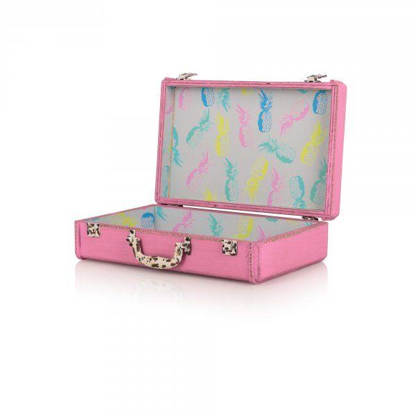 Extra Small Tropical Decorative Storage Suitcase | New | Oliver Bonas