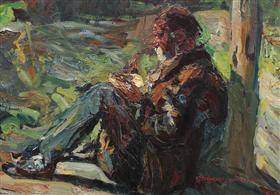 Moş Gheorghe's Lunch - Rudolf Schweitzer-Cumpana