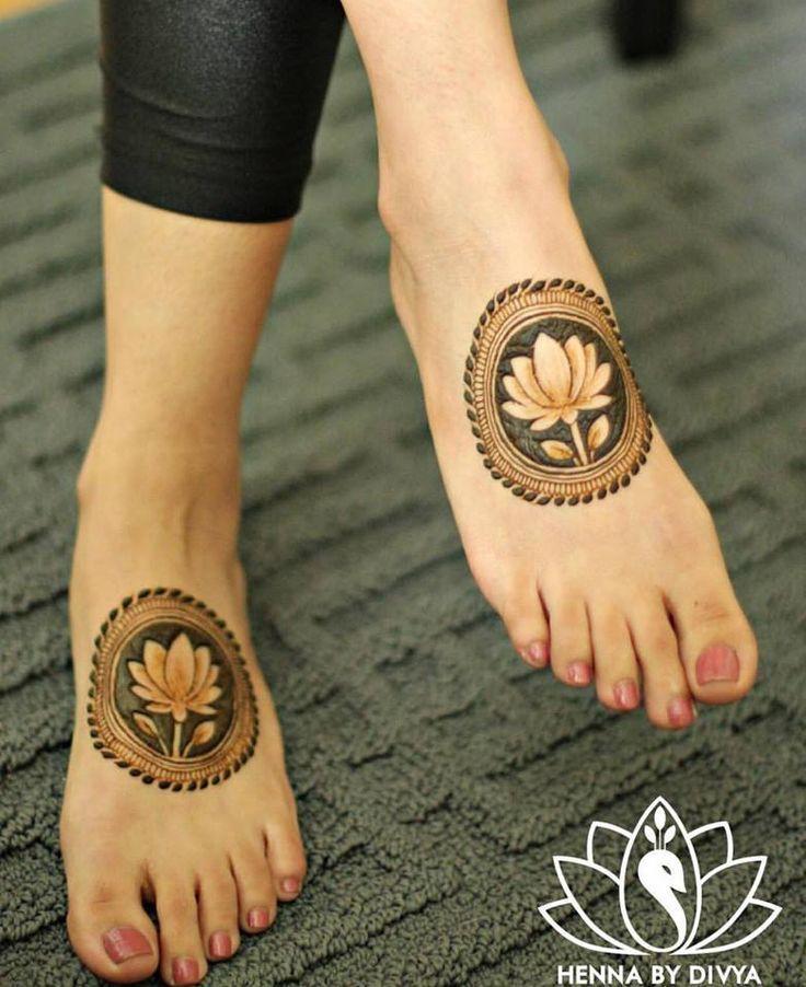 Legs mehndi design