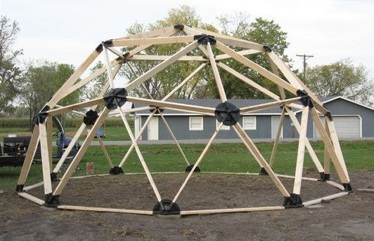 2v 2x4 Wood Geodesic Hub Kit In 2019 Geodesic Dome