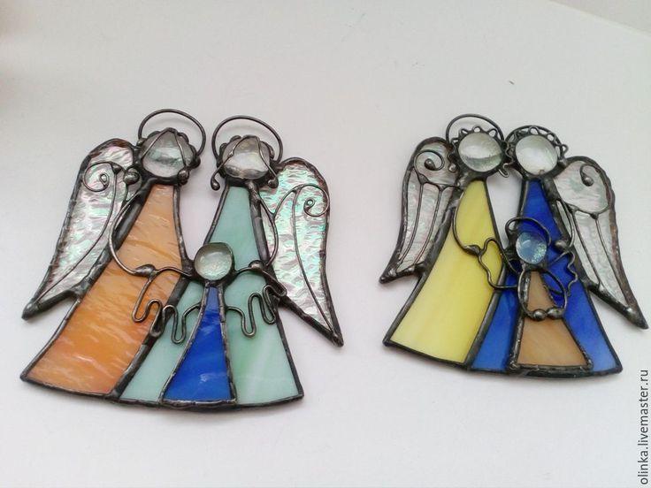 Купить Ангелы витражные-семейные обереги. - витражные ангелы, ангелы хранители, ангелы из стекла