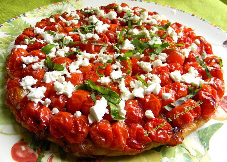 Tarte aux tomates cerises et féta