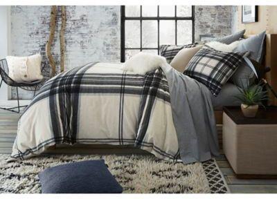 UGG® Dakota Plaid Cotton Flannel Full/Queen Duvet Cover in Charcoal #affiliate