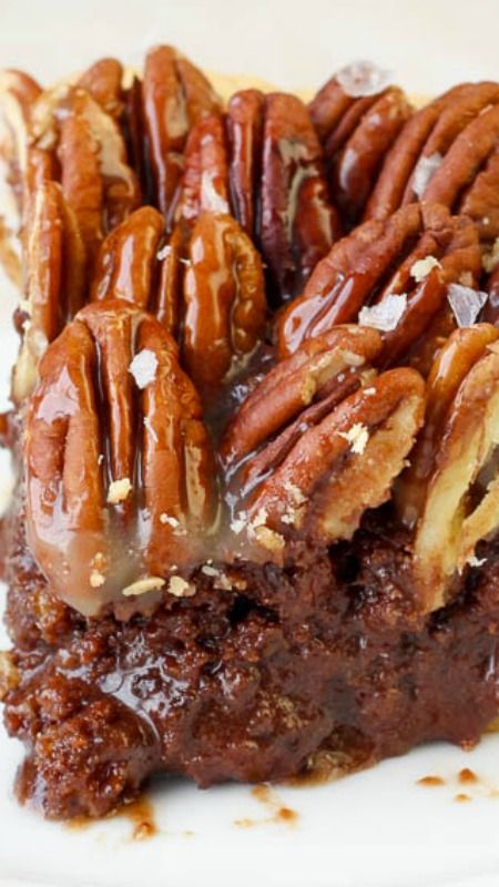 Salted Caramel Chocolate Pecan Pie ~ rich and decadent... The addition of chocolate is phenomenal with the toasted pecans, and the salted caramel topping really sets it apart!