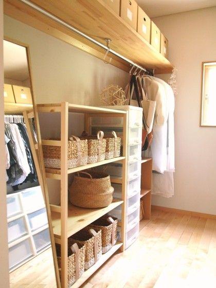 寝室のウォークインクローゼット、WEB内覧会! : usagi works