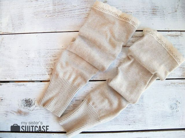 DIY Boot Socks {from old sweaters} - My Sister's Suitcase - Packed with Creativity