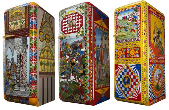 Dolce & Gabbana Collaborate with Smeg on the FAB28 Refrigerator | Italia Living