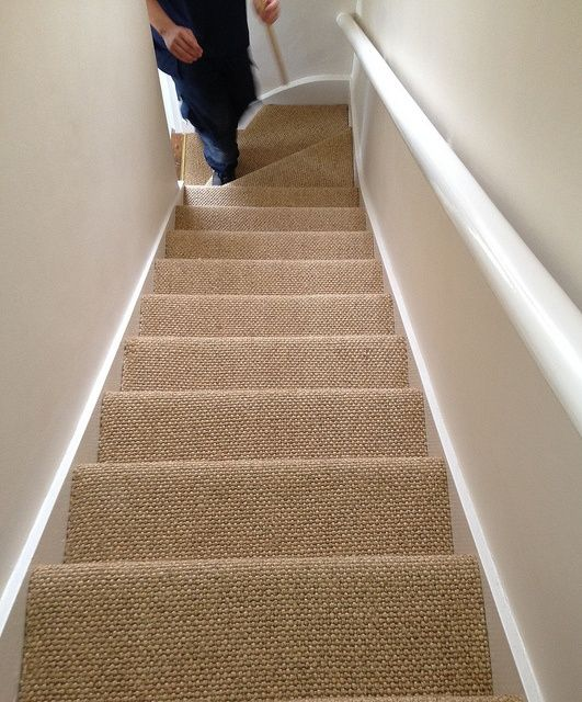 Wonderful Sisal Carpet On Stairs