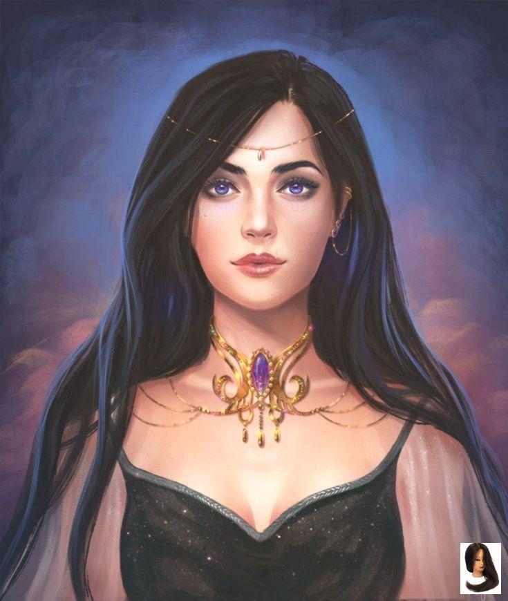 Novo Fotos Cabelo Preto Desenho Pensamentos Hair Eyes Black Princess Purple Black Ha In 2020 Fantasy Princess Character Portraits Fantasy Girl