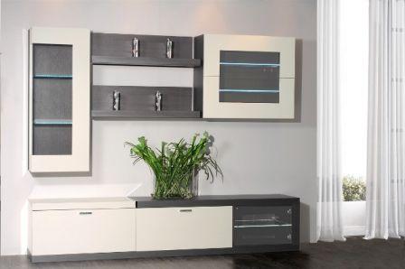 Casa Ampia-Unit White Line- έπιπλο tv - καθιστικό-διακόσμηση σαλονιού-ξύλο Δρυός