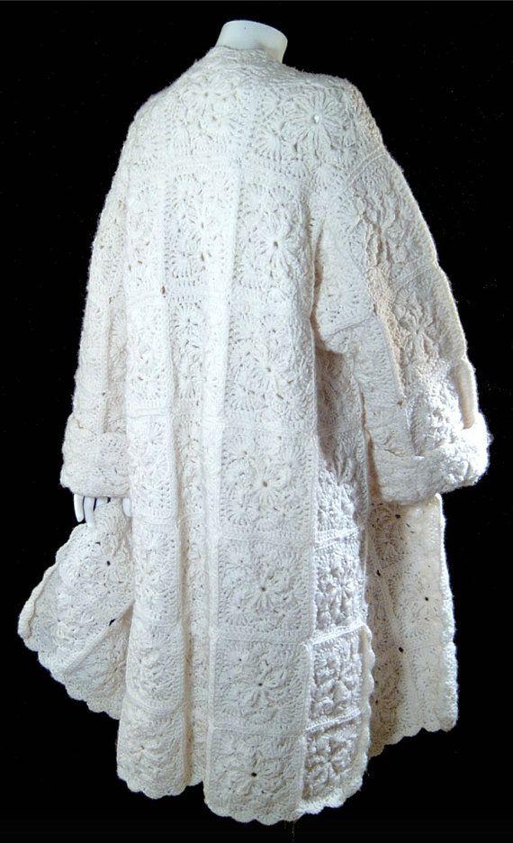 Neve dell'annata bianco lana cappotto XL Plus di ForeverSexy