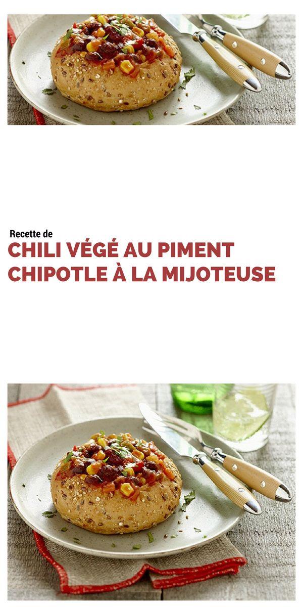 #chili #végétarien #piment #chipotle #mijoteuse