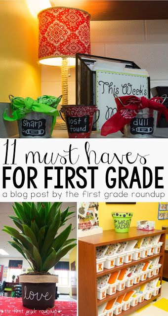 "11 Must Haves For Moving To 1st Grade | Click to read my list of ""can't live withouts""!"