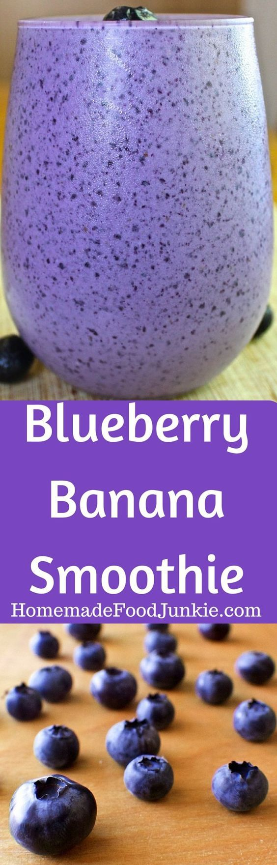 Blueberry Banana Smoothie is packed with antioxidants and protein! This…