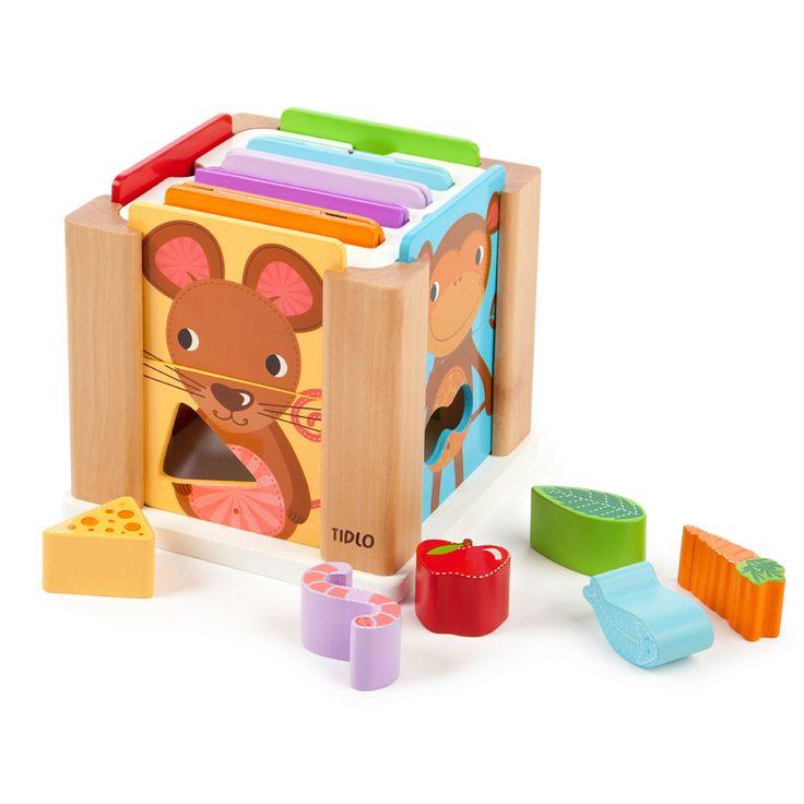 Tidlo Dyre putte kasse i træ    Legetøj i træ er gedigen, robust og naturligt!  Her får du et flot kvalitets Dyre putte kasse...