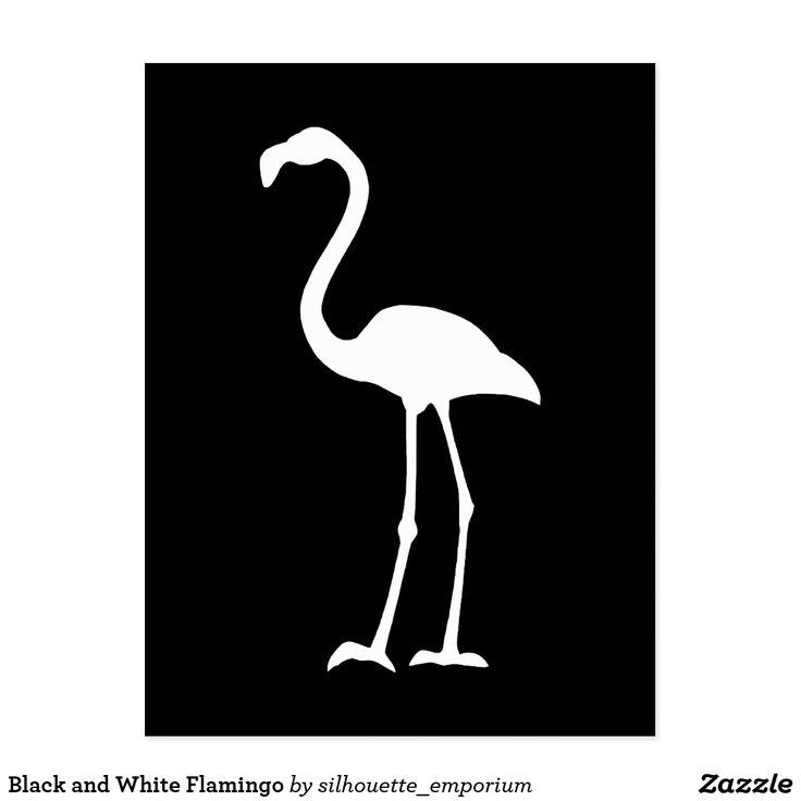 Flamant noir et blanc cartes postales