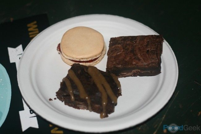 Raspberry Macaroon, Bacon & Salted Caramel Brownies from The Ginger Tart @ Grub 'Winter Beer Fest' 2015, Green Quarter, Manchester