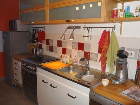Sticker Faience Cuisine Credence Deco Maison Pinterest - Credence faience cuisine pour idees de deco de cuisine