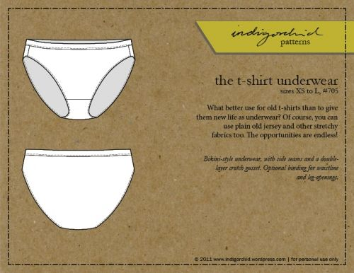 FREE Underwear (panties,knickers,briefs) pattern