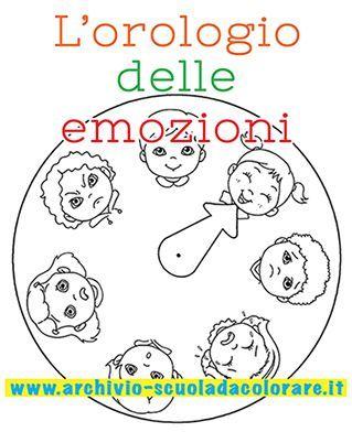 L'orologio delle emozioni da colorare: un'attività per insegnare ai vostri…