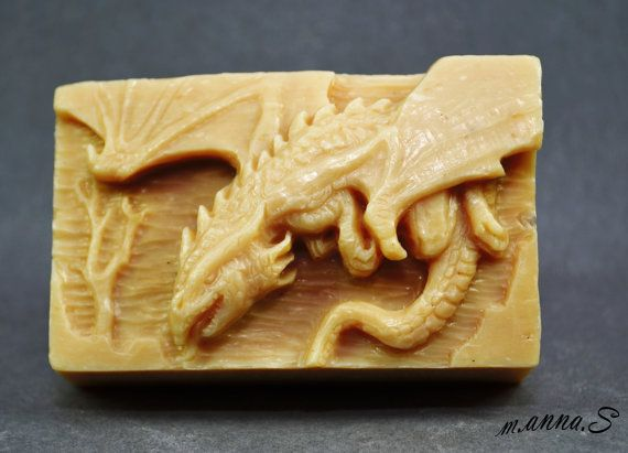 DRAGON SOAP MOLD silicone mould soap bar winter is by sweetmoulds