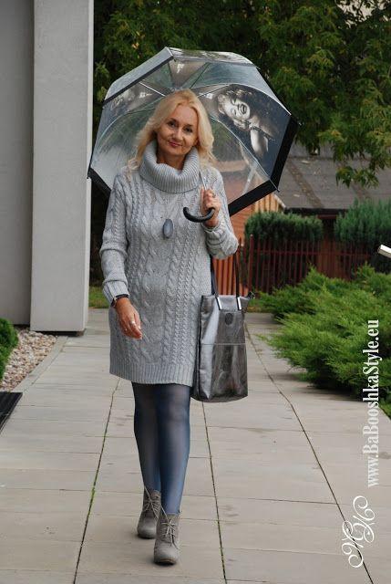 Babooshka Style - Blog modowy: Szara dzianinowa sukienka - gray knitted dress
