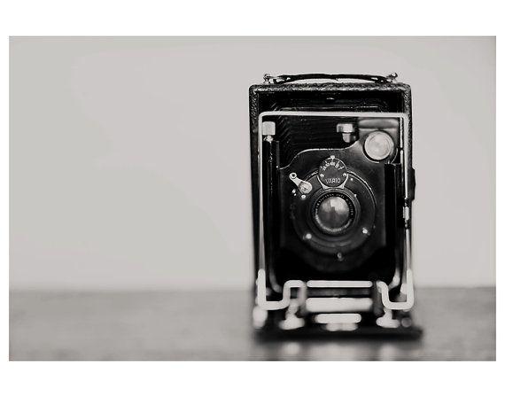 black and white photography, camera photograph, camera, vintage camera, masculine, minimalist, still life photography on Etsy, $35.00